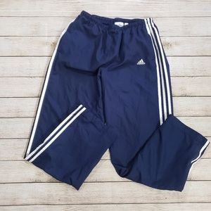 Adidas Blue Three Stripe Wind Pants Men's Medium